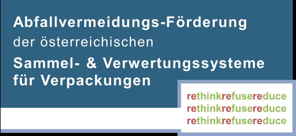 Logo Abfallvermeidungs-Förderung der österr. Sammel- & Verwertungssysteme f. Verpackungen